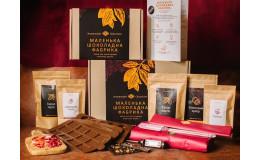 Подарочный набор для приготовления шоколада DARK BOX темный шоколад, Шоколадная фабрика