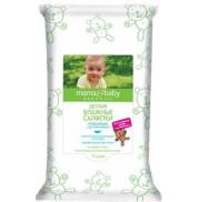 Детские влажные салфетки очищающие с кремом Mama&Baby 72 шт.