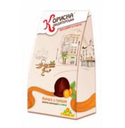 Шоколадные конфеты Курага с орехом в шоколаде Стевиясан