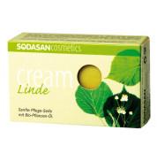 Мыло-крем для лица Липа с маслами ши и цветов липы Sodasan 100 г
