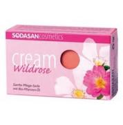 Мыло-крем для лица Дикие розы с маслами ши и диких роз Sodasan 100 г