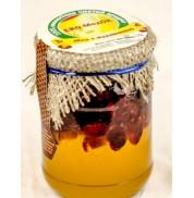 Мед с клюквой, Эко-медок (350г)