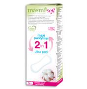 Прокладки гигиенические органические Maxi Plus 2 в 1 Masmi 24 шт.