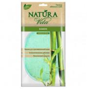 Мочалка спонж для тела Бамбук Natura Vita