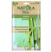 Мочалка губка для тела Бамбук Natura Vita