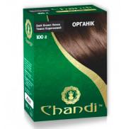 Краска для волос Хна органик цвет Темно-коричневый Chandi 100 г