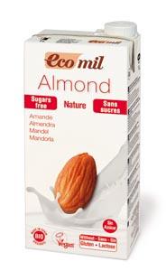 Молоко миндальное без сахара EcoMil 1 л