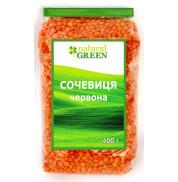 Чечевица красная Natural Green 400 г