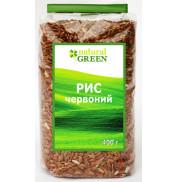 Рис красный нешлифованный Natural Green 400 г
